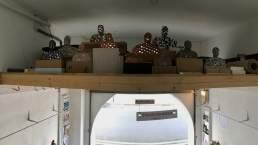 Civilians installation of Enlightenment, a ceramic sculpture by Simon Fell