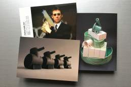 Postcards showing: Ceramic sculpture by Simon Fell, key pieces from the archive