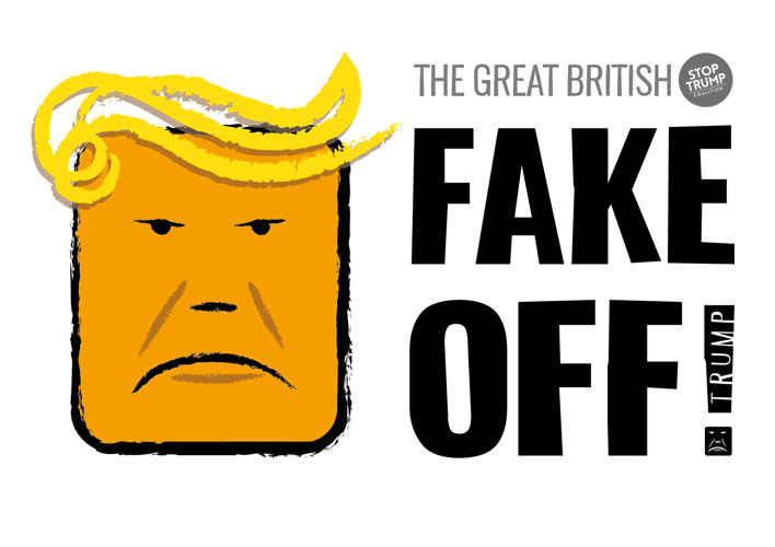 The great British FAKE OFF to Trump - free pdf artwork download. A4 Landscape