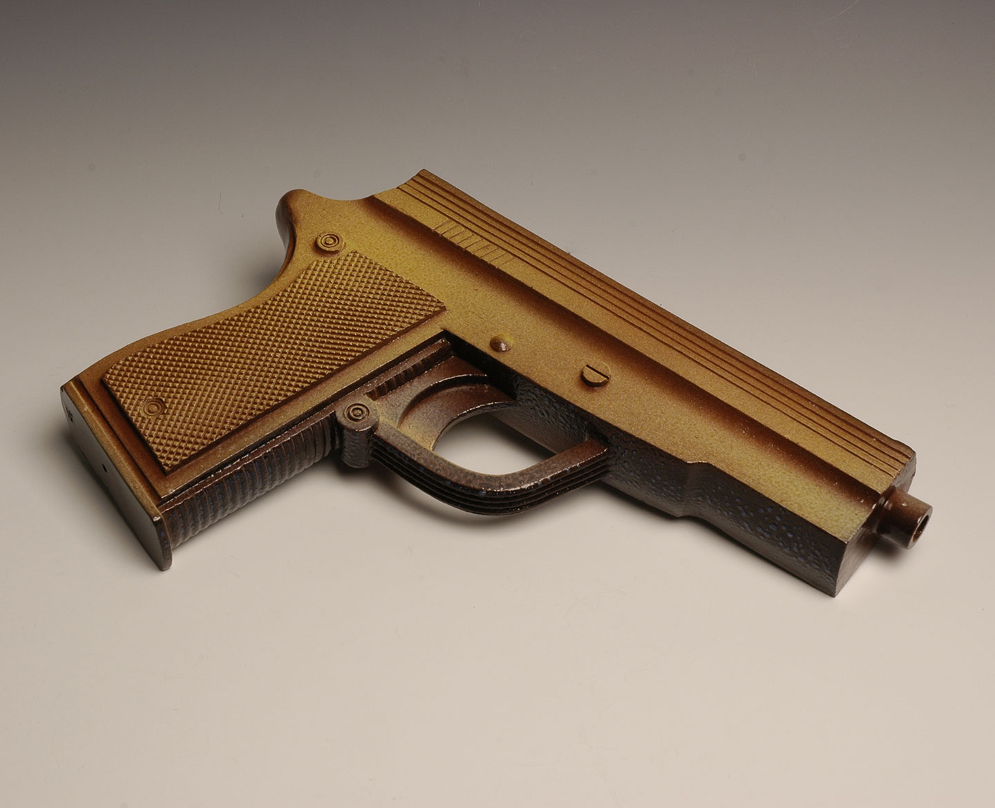 Potgun 2, an oversized pistol, ceramic, length 30cm